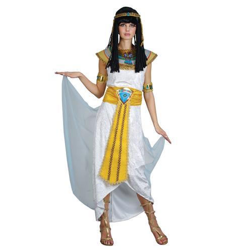 Cleopatra-Egyptian-Ladies-Fancy-Dress-Halloween-Egypt-Womens-Adult-Costume-6-24 thumbnail 2