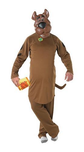 Scooby doo fancy dress cartoon dog mens adult halloween fun animal costume new ebay - Deguisement halloween chien ...