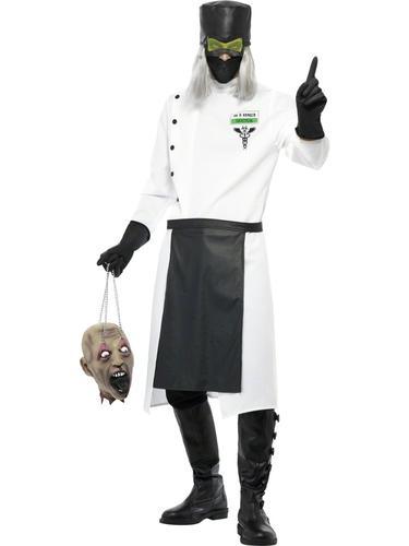Scary-Dr-D-Ranged-Doctor-Halloween-Mens-Fancy-  sc 1 st  eBay & Scary Dr D.Ranged Doctor Halloween Mens Fancy Dress Uniform Adult ...