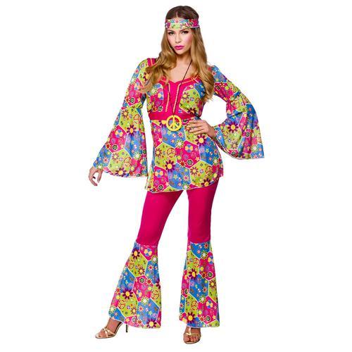 Hippy-Girl-Medallion-1960s-Fancy-Dress-Hippie-Ladies-  sc 1 st  eBay & Hippy Girl + Medallion 1960s Fancy Dress Hippie Ladies 60s-1970s ...