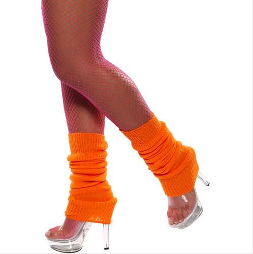 Neon-80s-Legwarmers-Ladies-Retro-Fancy-Dress-Womens-1980s-Costume-Accessory-New