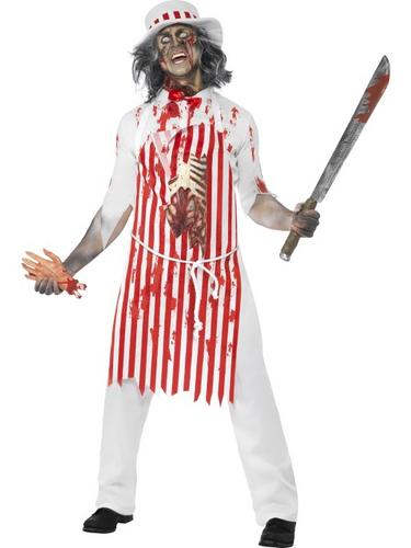 Zombie-Kitchen-Costumes-Free-Blood-Adults-Halloween-Butcher-  sc 1 st  eBay & Zombie Kitchen Costumes + Free Blood Adults Halloween Butcher Chef ...