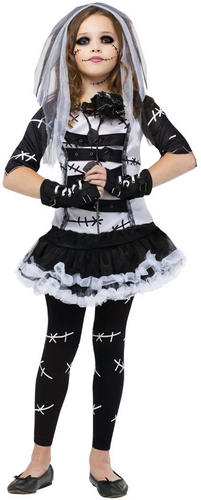 monster zombie bride girls halloween fancy dress childrens
