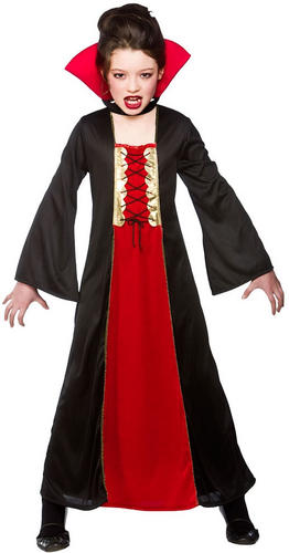 Details about Girls Wicked Queen Vampire Princess Halloween Kids Fancy  Dress Costume Age 3,10