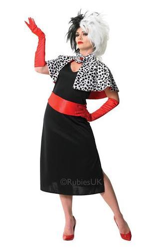 Cruella-De-Vil-Wig-Fancy-Dress-Ladies-Halloween-  sc 1 st  eBay & Cruella De Vil + Wig Fancy Dress Ladies Halloween Book Character ...