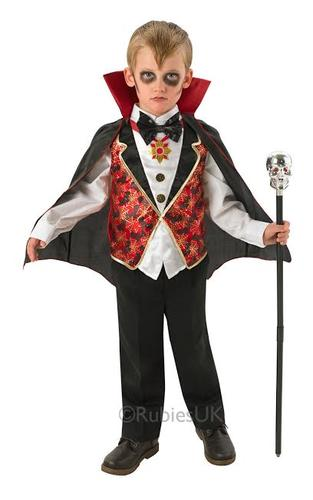 dracula fancy dress boys vampire childrens kids childs - Halloween Dracula Costumes