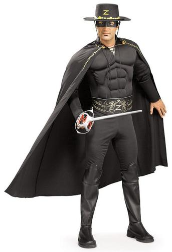 Hat New Deluxe Zorro Mens Fancy Dress Movie Mexican Hero Adults Costume Outfit