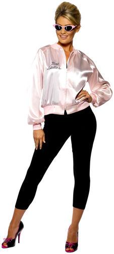 ede829fc21bef 1950s Grease Jacket Adult Fancy Dress 50s Rock N Roll Mens Ladies ...