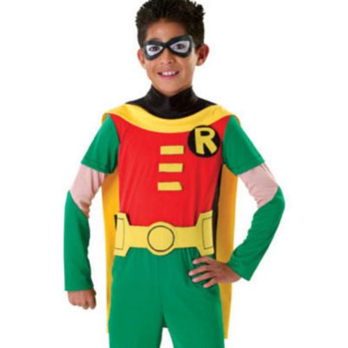 Robin-Fancy-Dress-Batman-Boys-Superhero-Kids-Child-  sc 1 st  eBay & Robin Fancy Dress Batman Boys Superhero Kids Child Costume Outfit ...