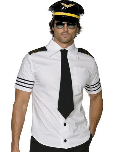 Mile High Captain Pilot + Hat Mens Fancy Dress Dress Dress Adult Uniform Costume Outfit New | Spielen Sie auf der ganzen Welt und verhindern Sie, dass Ihre Kinder einsam sind  | Bekannt für seine gute Qualität  | Billiger als der Preis  b89d0f