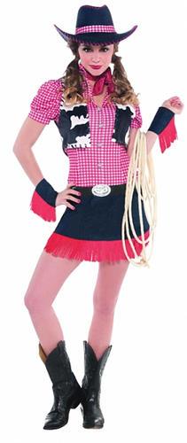 Cowgirl-Ladies-Fancy-Dress-Western-Cowboys-&-Indians-  sc 1 st  eBay & Cowgirl Ladies Fancy Dress Western Cowboys u0026 Indians Womens Costume ...