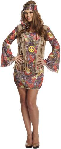 1960s Hippie Ladies Fancy Dress 60s Groovy Hippy Psychedelic 70s Womens Costume