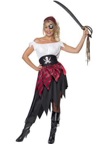 Pirate-Wench-Ladies-Fancy-Dress-Womens-Pirates-Adults-  sc 1 st  eBay & Pirate Wench Ladies Fancy Dress Womens Pirates Adults Party Dress Up ...