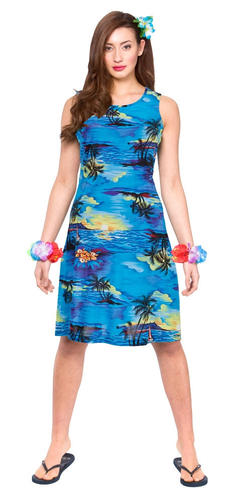 6221eb05ed82f Hawaiian Ladies Fancy Dress Tropical Beach Hawaii Womens Adults ...