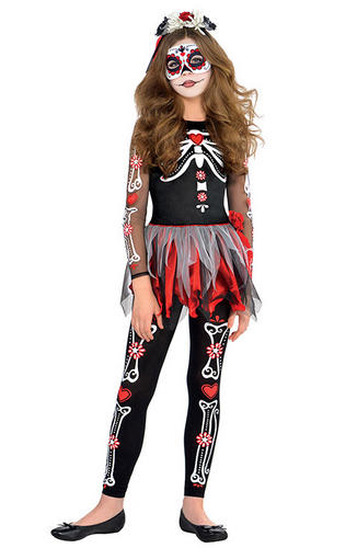 day of the dead girls fancy dress halloween - Skeleton Halloween Costume For Kids