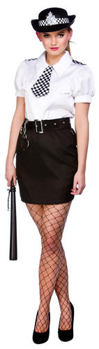Sexy-Police-Woman-Lady-Officer-Ladies-Fancy-Dress-Cops-Uniform-Adults-Costumes thumbnail 3