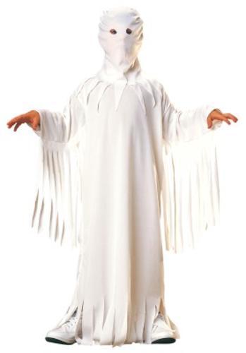 kids white ghost robe halloween ghoul fancy dress