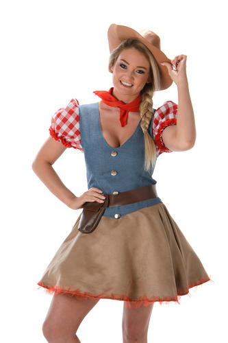 361f138dca4c Rodeo Cowgirl Ladies Fancy Dress Wild West Western Womens Cowboy ...