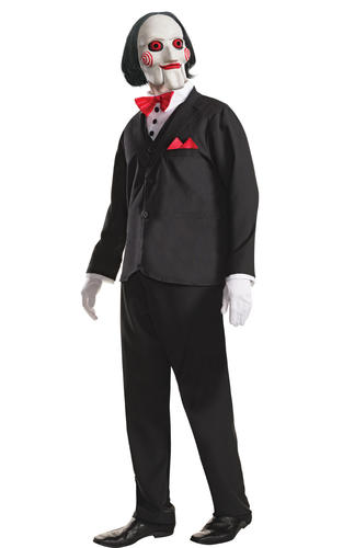 ultime tendenze del 2019 in vendita online buona qualità Details about Jigsaw Billy Mens Fancy Dress Saw Puppet Halloween Horror  Movie Adults Costume