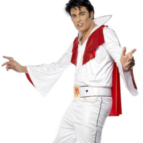 Elvis-Presley-Adult-Men-039-s-Fancy-Dress-  sc 1 st  eBay & Elvis Presley Adult Menu0027s Fancy Dress 50s Party Costume 1950s Outfit ...