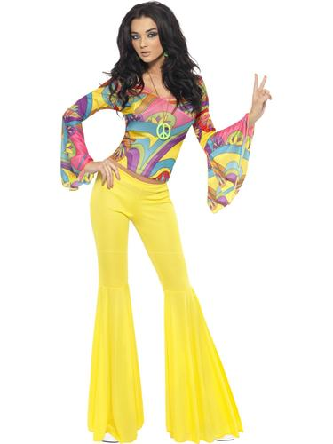 70s-Groovy-Babe-Ladies-Fancy-Dress-Funky-Disco-  sc 1 st  eBay & 70s Groovy Babe Ladies Fancy Dress Funky Disco Diva Womens Adults ...