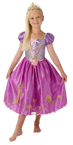 ... Picture 2 of 4 ...  sc 1 st  eBay & Rubies Official Disney Princess Rapunzel Childs Deluxe Costume Small ...