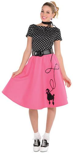 50s Flair Ladies Fancy Dress 60s Rock N