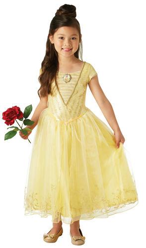 Deluxe Live Action Belle Girls Fancy Dress Disney Princess Beauty