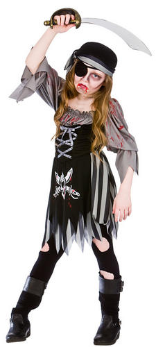 zombie ghost pirate girls fancy dress kids childrens