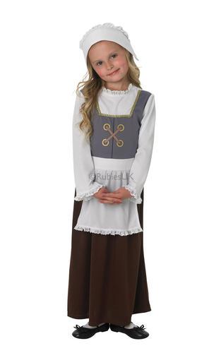 Tudor-Girls-Fancy-Dress-Medieval-Victorian-Maid-Maid-  sc 1 st  eBay & Tudor Girls Fancy Dress Medieval Victorian Maid Maid Book Day Kids ...