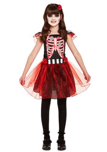 skeleton girls fancy dress spooky halloween day of