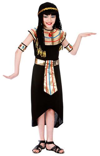 Egyptian-Queen-Girls-Fancy-Dress-Historical-Egypt-Nile-Royal-Kids-Childs-Costume
