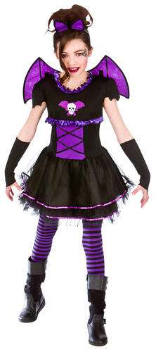 bat ballerina girls halloween fancy dress vampire spooky