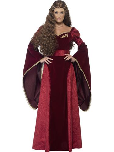 Medieval Ladies Fancy Dress Game of Thrones Tudor Renaissance Adults Costume New