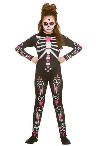 candy skull girls fancy dress halloween day of