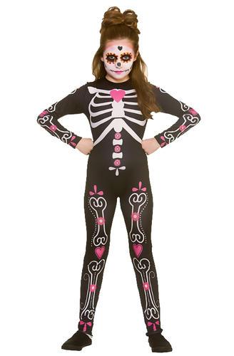 candy skull girls fancy dress halloween day of