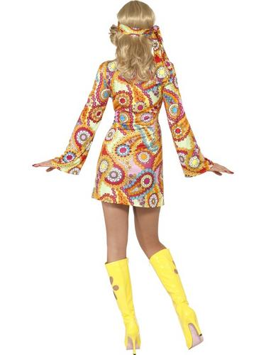 60s-Hippy-Adults-Fancy-Dress-Hippie-1970s-Groovy-Peace-Funky-Costume-Outfit-New thumbnail 5