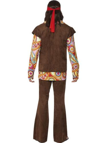 60s-Hippy-Adults-Fancy-Dress-Hippie-1970s-Groovy-Peace-Funky-Costume-Outfit-New thumbnail 16