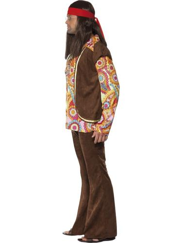 60s-Hippy-Adults-Fancy-Dress-Hippie-1970s-Groovy-Peace-Funky-Costume-Outfit-New thumbnail 15