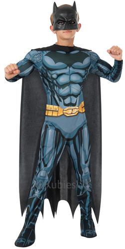 Deluxe BATMAN Ragazzi Costume Supereroe Fumetti per bambini Costume Nuovo