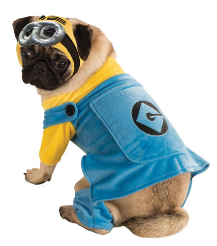 Minion pet dog fancy dress halloween cartoon despicable me