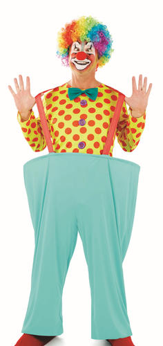 Colourful-Clown-Adults-Fancy-Dress-Circus-Carnival-Funny-Mens-Womens-Costume-New thumbnail 4