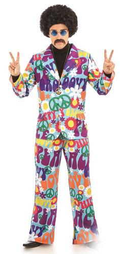 Groovy-Hippie-adultos-Elaborado-Vestido-60s-70s-Funky-Paz-Hippy-Hombre-Mujer-Costumes