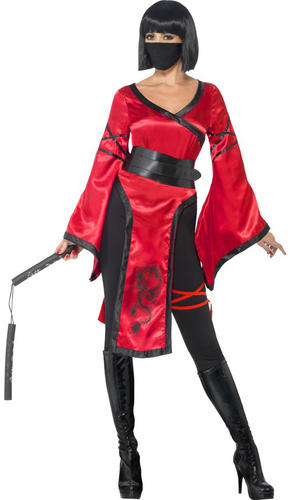 Shadow-Warrior-Ladies-Fancy-Dress-Oriental-Chinese-Ninja-  sc 1 st  eBay & Shadow Warrior Ladies Fancy Dress Oriental Chinese Ninja Womens ...