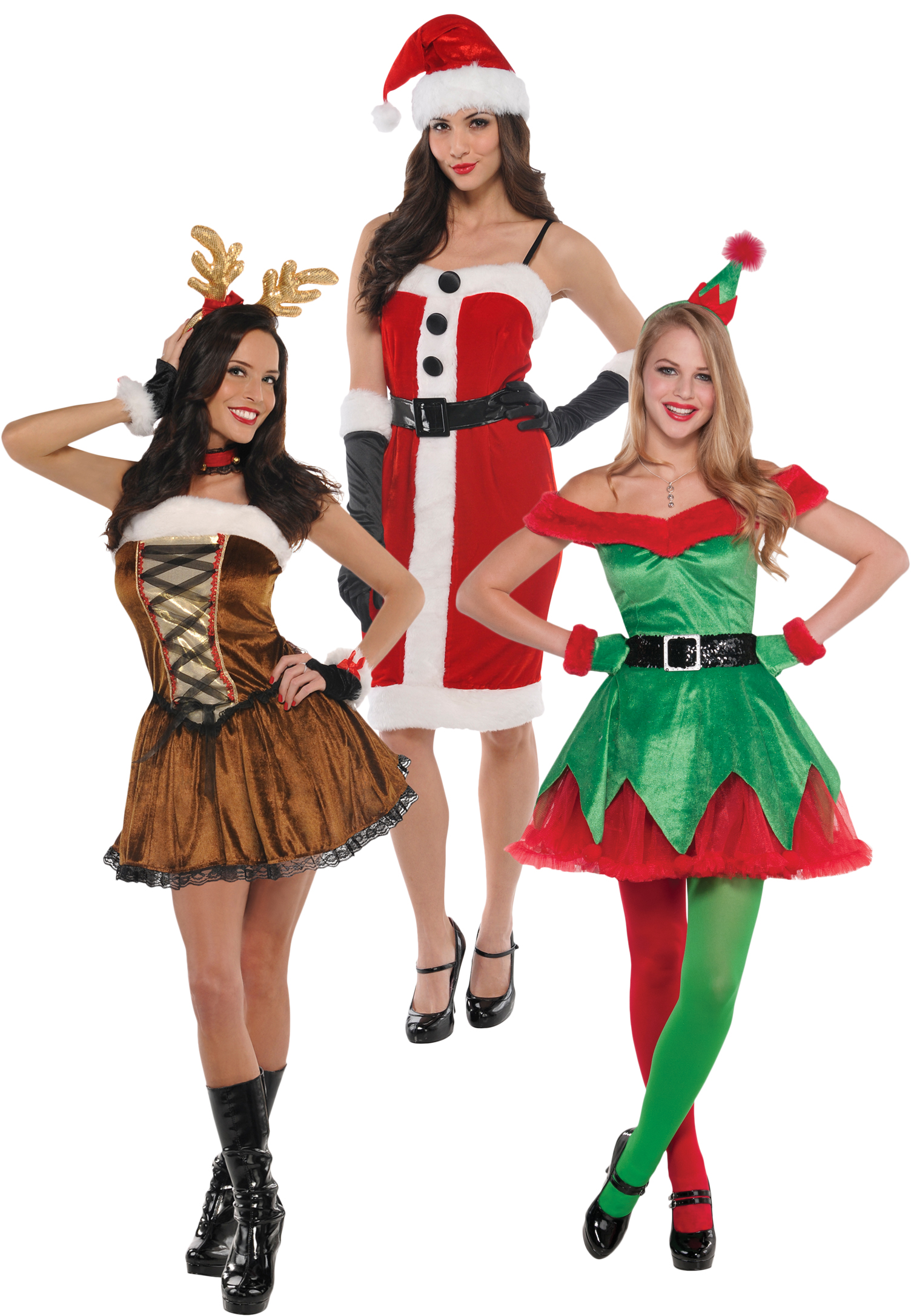 53230987baaf Sentinel Sexy Christmas Ladies Fancy Dress Xmas Festive Winter Wonderland  Womens Costumes