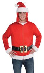 Santa Hoodie Mens Costume Accessory