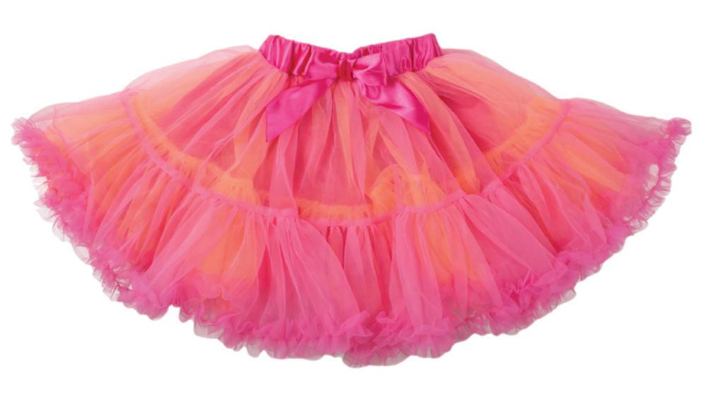 Cerise/Orange Frothy Tutu Girls Costume Accessory