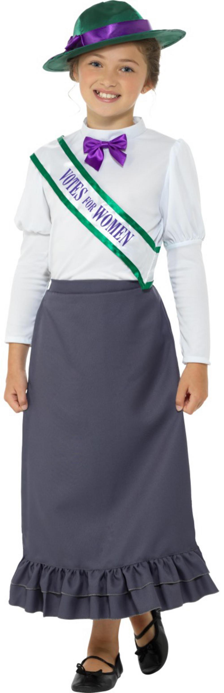 Victorian Suffragette Girls Costume