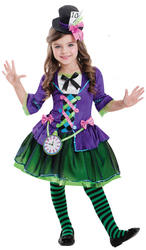 Bad Hatter Girls Costume