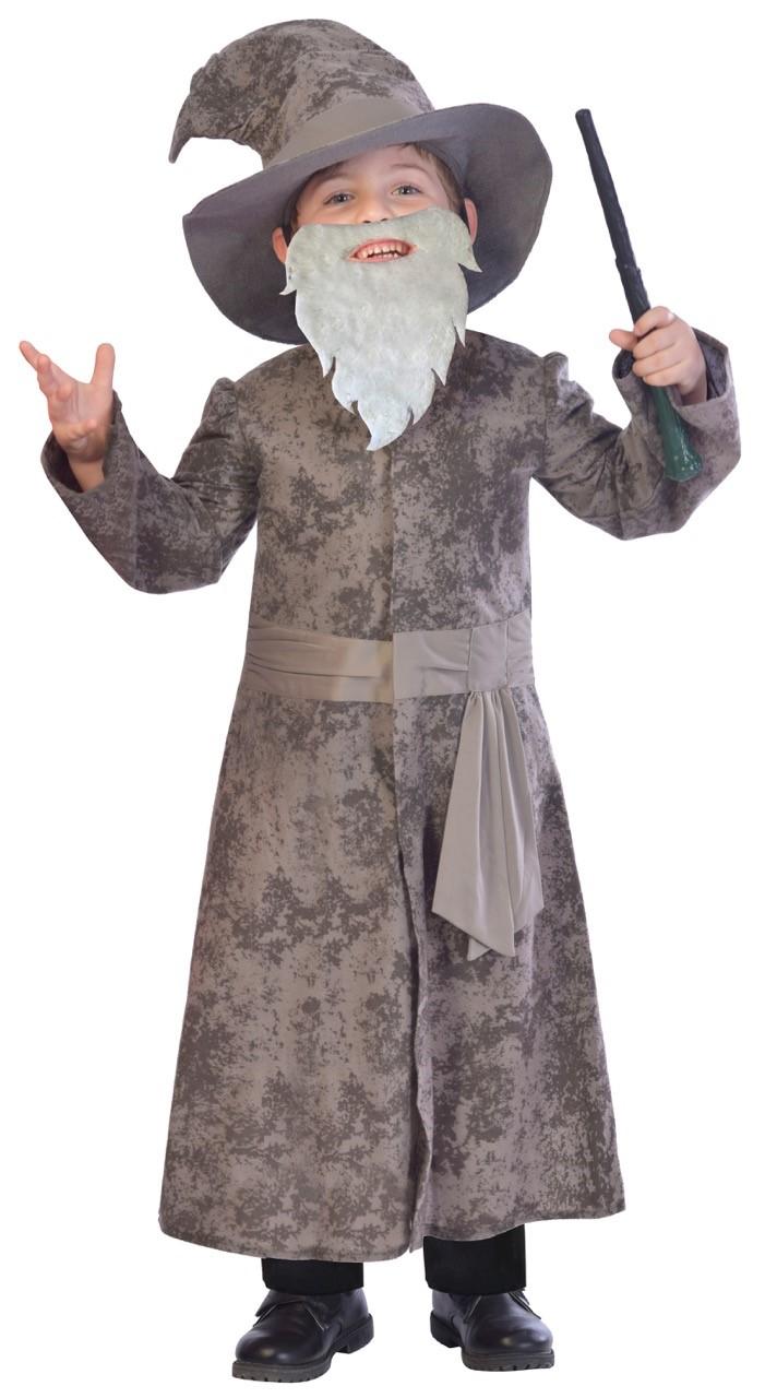 Wise Wizard Boys Fancy Dress Halloween Fairy Tale Book Day Childs Kids Costume